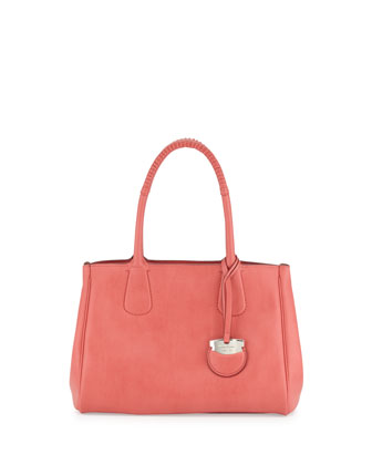 Nolita Medium Calfskin Tote Bag, Rose