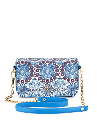 Robinson Printed Chain Mini Bag, Blue
