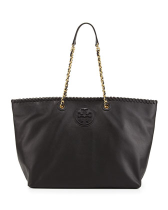 Marion East-West Tote Bag, Black
