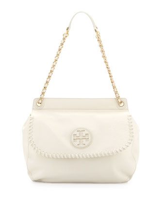 Marion Leather Saddle Bag, Ivory