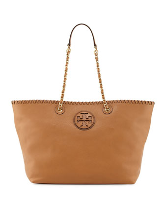 Marion Small East-West Tote Bag, Tan