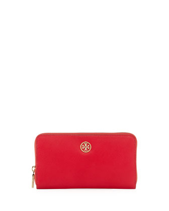 Robinson Zip Continental Wallet, Hot Pink