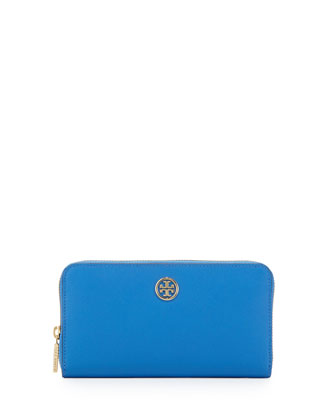 Robinson Continental Zip Wallet, Blue