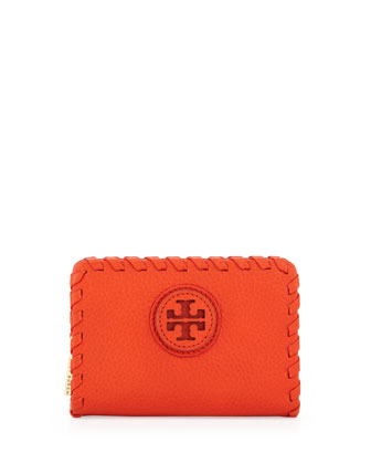 Marion Whipstitch Zip Coin Pouch, Orange