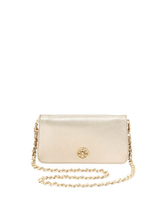 Adalyn Metallic Crossbody Clutch Bag, Gold