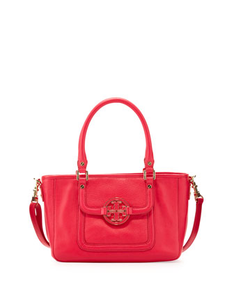 Amanda Mini Satchel Bag, Hot Pink