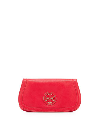 Amanda Logo Clutch Bag, Hot Pink