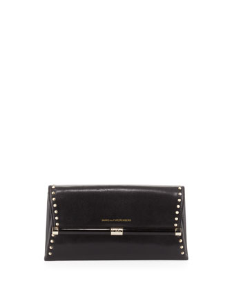 440 Studded Envelope Clutch Bag, Black
