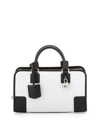 Amazona 28 Panda-Charm Satchel Bag,White/Black