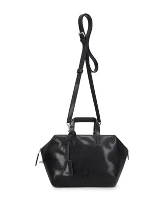 Origami Cubo Small Satchel Bag, Black