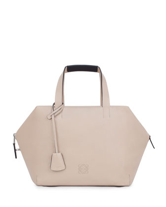Origami Cubo Large Satchel Bag, Neutral