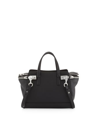 Small Verve Zip-Top Tote Bag, Black