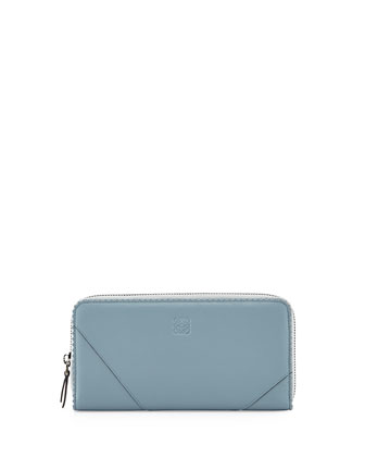 Origami Zip-Around Wallet, Light Blue