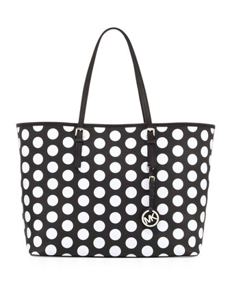 Medium Jet Set Dotted Travel Tote