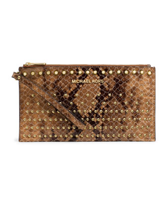 Large Jet Set Degrade Zip Clutch