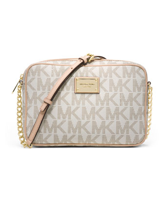 Jet Set Large Travel Crossbody, Vanilla