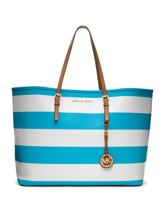 Medium Jet Set Travel Striped Tote