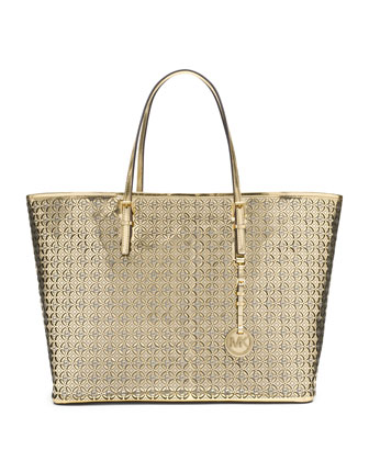 Medium Perforated Flower Travel Tote