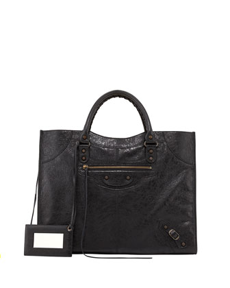 Classic Monday Satchel Bag, Black