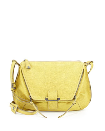 Leroy Leather Shoulder Bag, Yellow