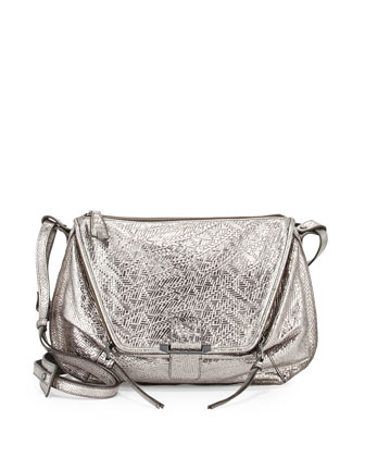 Leroy Metallic Shoulder Bag, Gunmetal