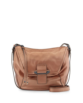 Gary Leather Crossbody Bag, Bronze
