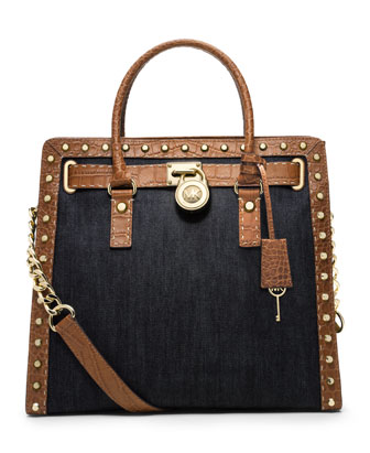 Hamilton Studded Canvas Tote