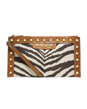 Large Selma Pick Stitch Clutch