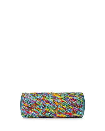 Striped Crystal Clutch Bag