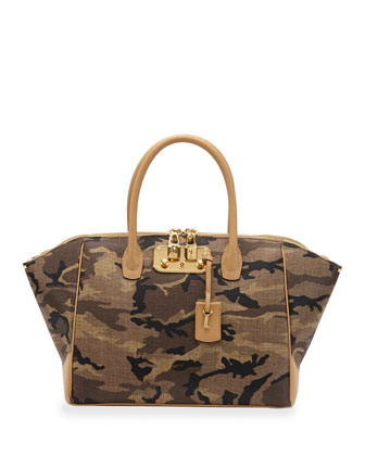 Brera 34 Camouflage Medium Satchel Bag