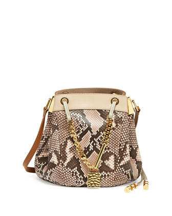 Camille Small Python Crossbody Bag, Pink