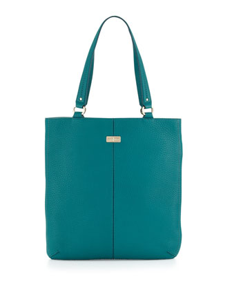Village Flat Tote Bag, Pendant Teal