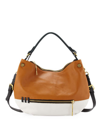 Olivia Colorblock Zip Hobo Bag