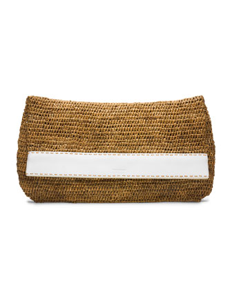 Large Santorini Fold-Over Clutch