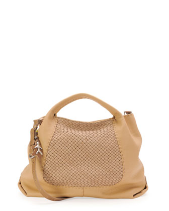 New Piura Woven Tote Bag, Cream