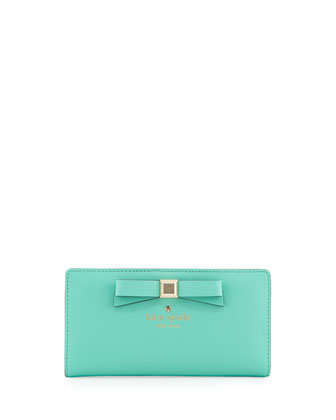 holly street stacy continental wallet, giverny blue