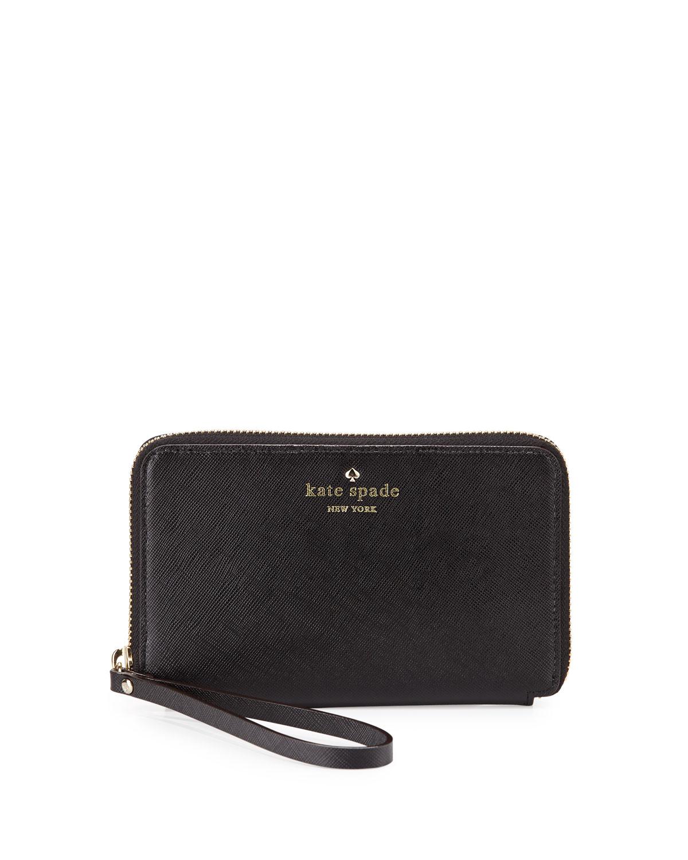 cherry lane laurie wristlet wallet, black   kate spade new york   Black