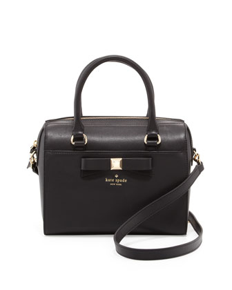 holly street ashton satchel bag, black
