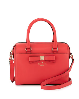holly street ashton satchel bag, geranium