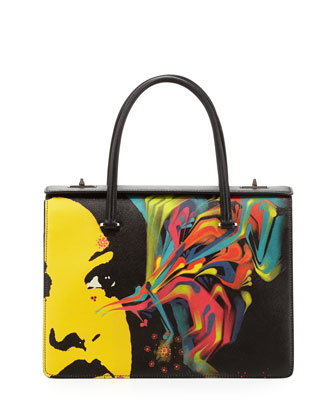 Saffiano Print Satchel Bag