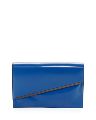 Asymmetric Envelope Clutch Bag, Blue (Stylist Pick!)