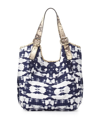 Berkley Python-Print Tie Dye Satchel Bag