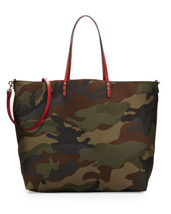 Camouflage Reversible Tote Bag, Multicolor