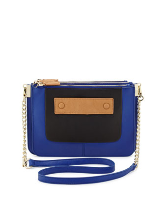Amelia Crossbody Bag, Cobalt/Black/Brown