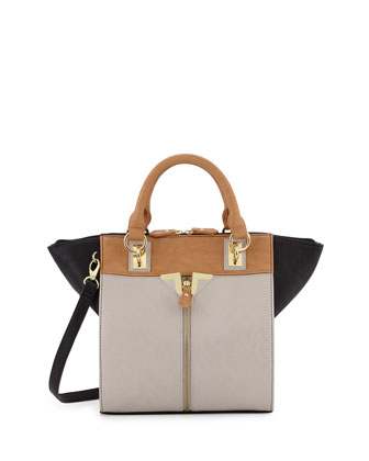 Alexa Color-Blocked Tote Bag, Carmel
