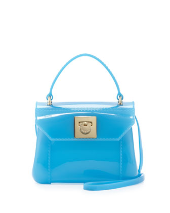 Candy Mini PVC Crossbody Bag, Atlantic