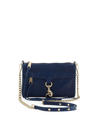Mini M.A.C. Crossbody Bag, Oxford Blue