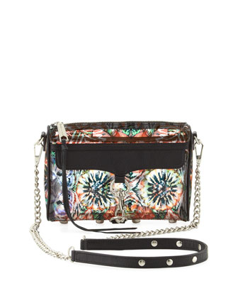 Mini MAC Flower-Print PVC Crossbody Bag, Multi