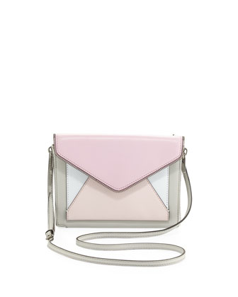 Marlowe Mini Envelope Crossbody Bag, Gray Multi