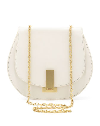 Loren Chain-Strap Shoulder Bag, Pearl